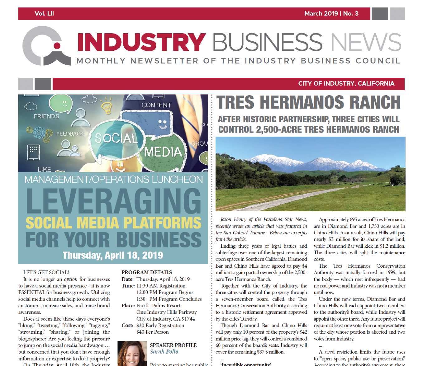 NEWSLETTER | 2019 MARCH Industry Business News
