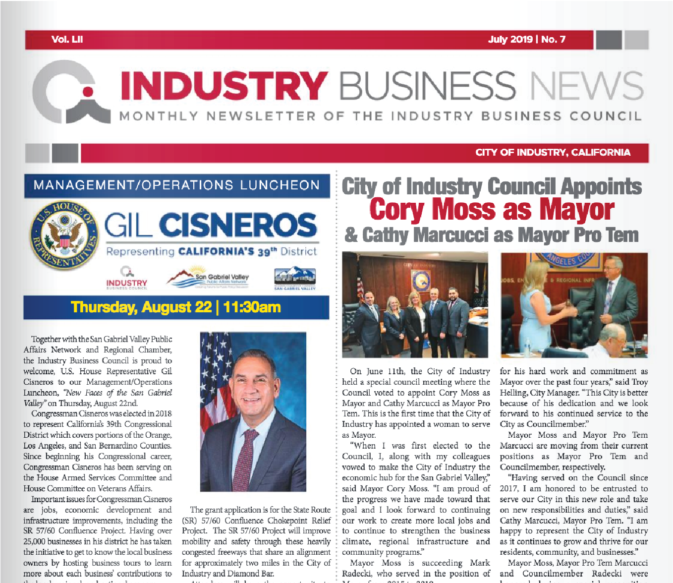 NEWSLETTER | 2019 July Industry Business News