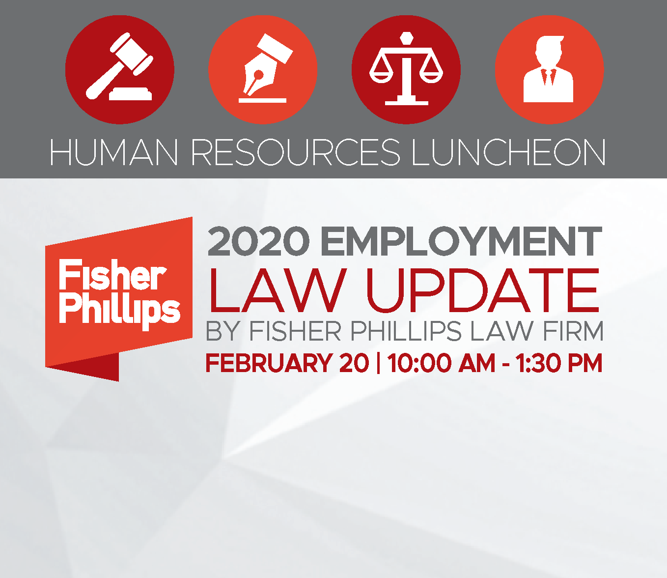 Special Extended Human Resources Luncheon | 2020 Employment Law Update