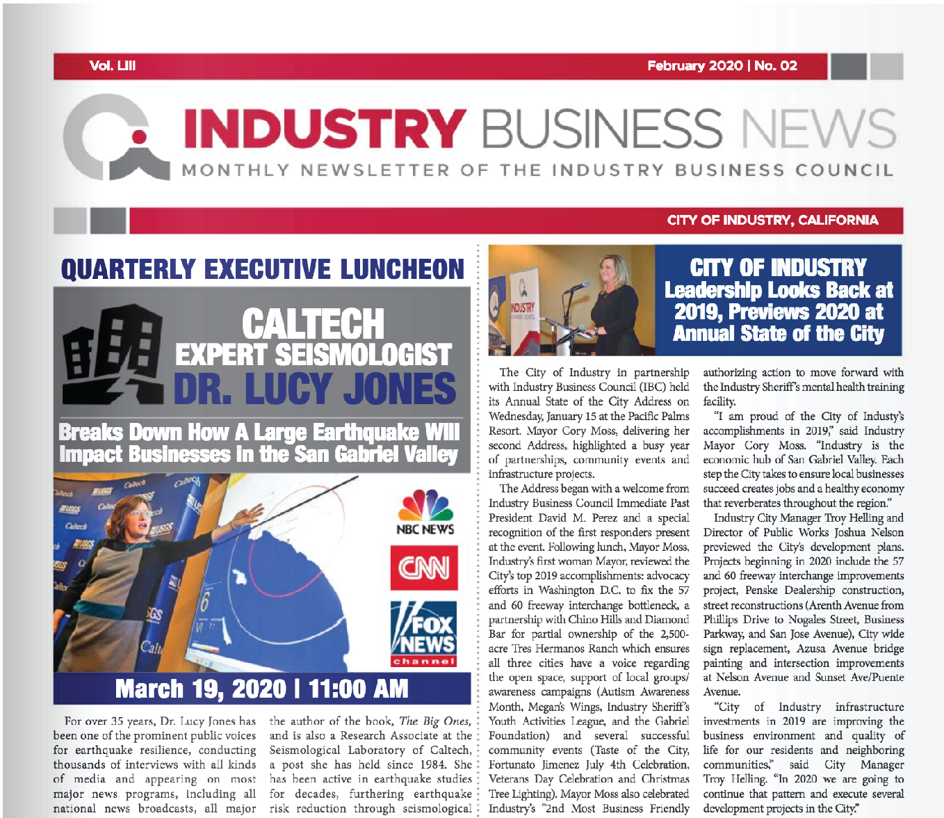 NEWSLETTER | 2020 FEBRUARY INDUSTRY BUSINESS NEWS