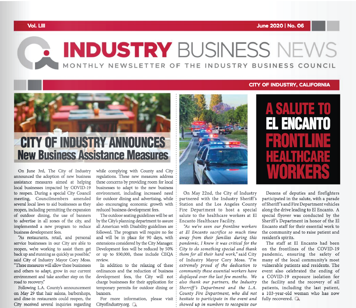 NEWSLETTER | 2020 JUNE INDUSTRY BUSINESS NEWS